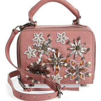 Rebecca Minkoff Embellished Box Leather Crossbody Bag | Nordstrom
