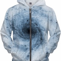 Negative Blue Whirlpool Galaxy | Universe Galaxy Nebula Star Clothes | Rave & Festival Shirt