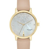 kate spade new york Women's Tan Vachetta Leather Strap Watch 34mm KSW1015 | macys.com