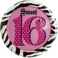 sweet 16 birthday plates Case of 24