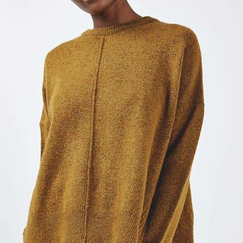 Zip Side Crew Jumper | Topshop