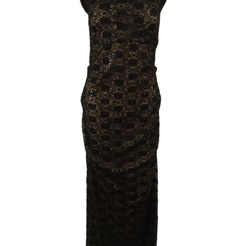 Alex Evenings Women's Off  The Shoulder Sequined Lace Gown