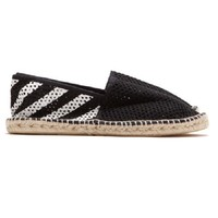 Indie Designs Off White Inspired Stripes Espadrilles