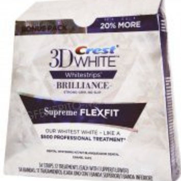 3D Crest White Brilliance Whitestripes Supreme Flexfit 34 strips: 17 Treatments (each with 1 upper/1 lower)