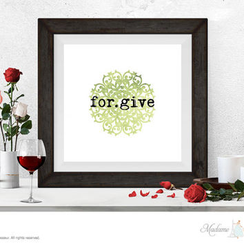 Printable Art Forgive Printable quote Wall Art Home Decor Minimalist Art Print Instant download printable art print watercolor art print
