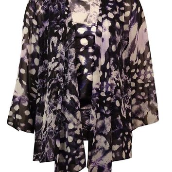Alex Evenings Women's 2PC Printed Chiffon Blouse Set