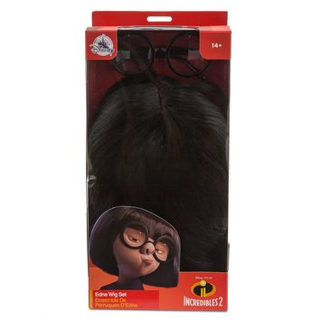Disney Edna Mode Wig and Eyeglasses Set for Adults Incredibles 2 New With Box