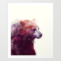 Bear // Calm Art Print by Amy Hamilton