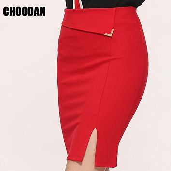 Skirts Womens Summer Autumn 2017 Sexy Sheath Pencil Skirt High Waist Fitness Mini Skirts Ladies Office Plus Size Women Clothing