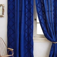 Appliqued Lace Curtain by Anthropologie