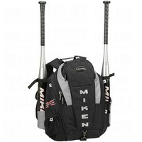 NEW! MIKEN Rookie Baseball Softball Backpack Bag Silver