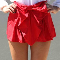BOW SHORTS , DRESSES, TOPS, BOTTOMS, JACKETS & JUMPERS, ACCESSORIES, SALE, PRE ORDER, NEW ARRIVALS, PLAYSUIT, COLOUR,,SHORTS,Red Australia, Queensland, Brisbane