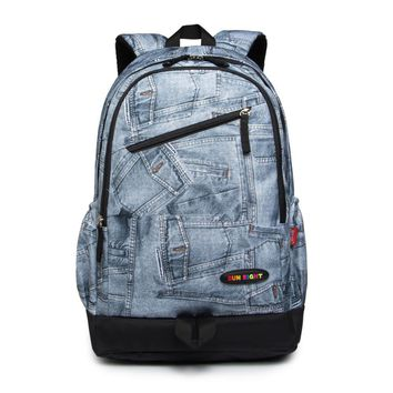 new arrival blue waterproof school backpack for boy high school bags for boys men travel bags student laptop bag male backpack