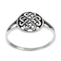 Sterling Silver Round Celtic Knot Ring | Overstock.com