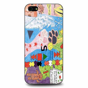 Ed Sheeran Tattoos Drawing iPhone 5/5s/SE Case