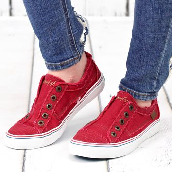 Play Hard Slip On Sneakers {Red}