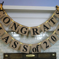 CLASS of 2016 Banner /Graduation Party Decorations / High School Graduation Banner/ Class of 2016 Decor /You Pick the Colors