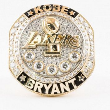 kobe bryant retirement championship ring  number 2