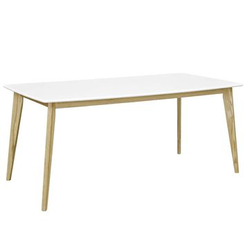"Stratum 71"" White Rectangular Mid-Century Inspired Dining Table"