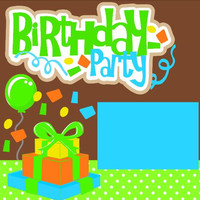 NEW!! Birthday Party boy Premade 2-page 12 X 12 Scrapbooking Page Layout