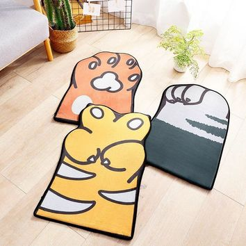 Autumn Fall welcome door mat doormat Cartoon Style Dog Cat Claw Print Carpets Anti-slip Floor Mat Outdoor Rugs Animal Front s Children's Home Decoration AT_76_7