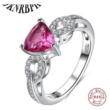 2019 YKNRBPH Limited New Bezel Setting 925 Sterling Rings Dazzling Ring Women Jewelry Vintage Style Princess Free Shipping