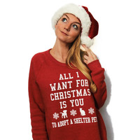 All I Want For Christmas Eco-Fleece Sweatshirt