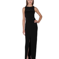 EG1211 Beaded Cut-Out Evening Gown by Badgley Mischka