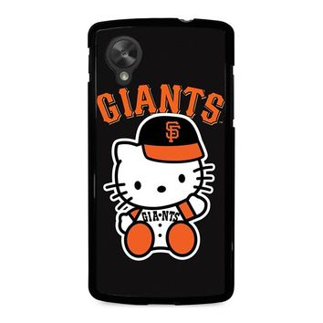 HELLO KITTY SAN FRANCISCO GIANTS Nexus 5 Case Cover