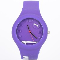 PUMA Woman Men Fashion Quartz Movement Wristwatch Watch