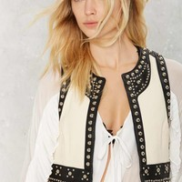 Nasty Gal Cavalry Studded Leather Vest