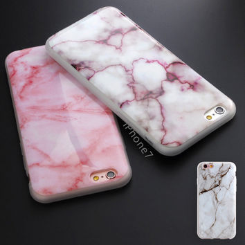 New Arrival Granite Scrub Marble Stone image Painted Phone Case Soft TPU Funda Case for iphone 5 5s SE 6 6s 6Plus 7 Phone Case