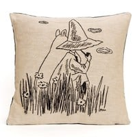 Moomintroll and Snufkin cushion cover by Aurora Decorari