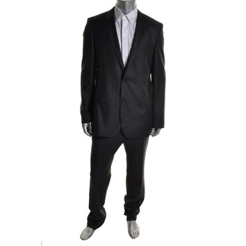 BOSS Hugo Boss Mens Halsey/Merill Wool Long Sleeves Two-Button Suit