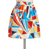 Mosaic of the Night Skirt | Mod Retro Vintage Skirts | ModCloth.com
