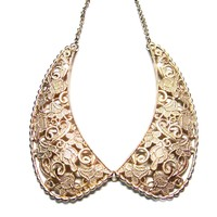 Metallic Embroidery Collar Necklace