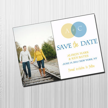 Photo Initials Save the Date - DIY Printable Save the Date