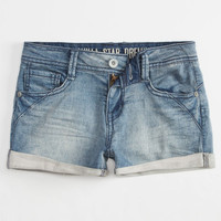 Vanilla Star Rolled Cuff Girls Denim Shorts Medium Wash  In Sizes