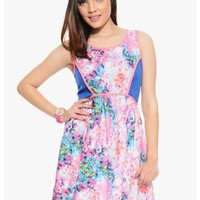 Pink Mix Watercolor Sleeveless Party Dress | $12.50 | Cheap Trendy Club and Party Dresses Chic Disc