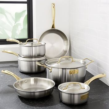 Fleischer and Wolf London Tri-Ply Stainless Steel/Gold 10-Piece Set