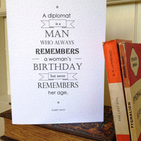Birthday Card Typography Quote