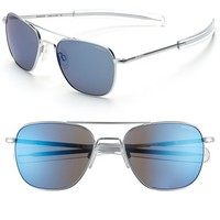 Men's Randolph Engineering 55mm Polarized Aviator Sunglasses - Matte Chrome/
