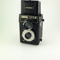 Russian USSR Lomo Lubitel 166B 6X6 Medium Format Film tlr Camera and Case, film type 120