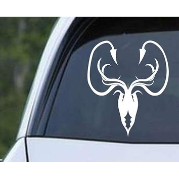 Game of Thrones House Greyjoy Kraken Die Cut Vinyl Decal Sticker