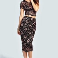 Gemma Scallop Lace Midi Skirt