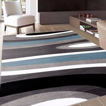 Alpine Abstract Modern Waves Area Rugs