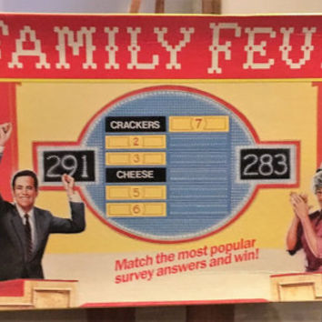 Vintage 1989 Family Feud Board Game - Never Been Used / Retro Family Feud TV Show / Croner Games