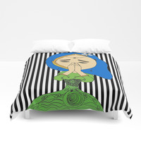 Namaste Colorful | Painting by Elisavet #society6 Duvet Cover by Azima