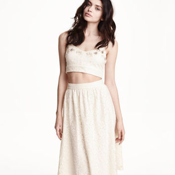H&M Beaded Lace Top $34.95