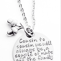 2 Funny Cousins Necklaces